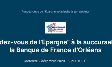 Rendez-vous de l'épargne Orléans 02 12 2020